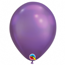 Chrome Balloons - Purple Chrome Balloons (100pcs) 11 Inch